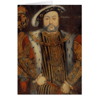 Portrait of Henry VIII Greeting Cards