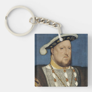 Portrait of Henry VIII of England by Hans Holbein Single-Sided Square Acrylic Key Ring