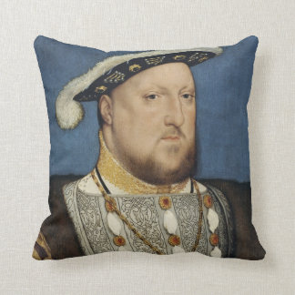 Portrait of Henry VIII of England by Hans Holbein Throw Pillow