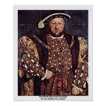 Portrait Of Henry Viii Of England Posters