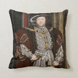 Portrait of Henry VIII Throw Pillow