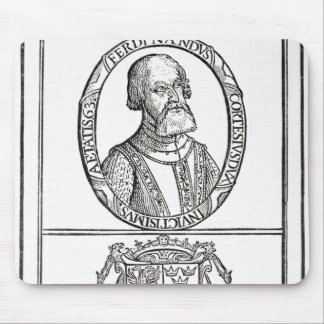 Portrait of Hernado Cortes  and his arms Mouse Mat