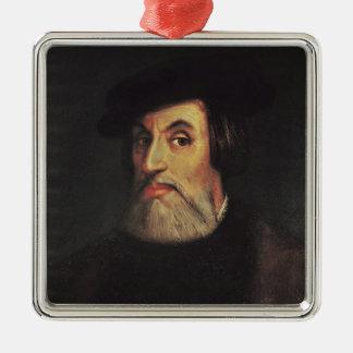 Portrait of Hernando Cortes Christmas Ornament