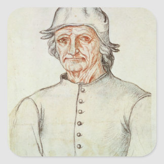 Portrait of Hieronymus Bosch Square Sticker