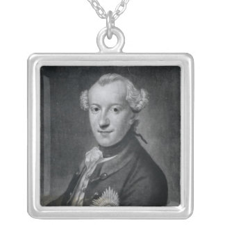 Portrait of His Most Serene Highness Charles Silver Plated Necklace