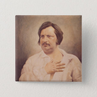 Portrait of Honore de Balzac 15 Cm Square Badge