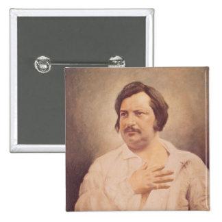 Portrait of Honore de Balzac 15 Cm Square Badge