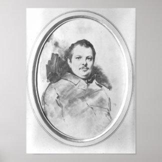 Portrait of Honore de Balzac  c.1820 Poster