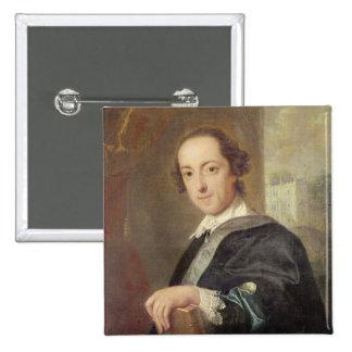 Portrait of Horatio Walpole 15 Cm Square Badge