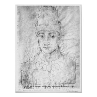 Portrait of Humphrey of England Poster