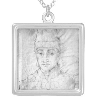 Portrait of Humphrey of England Silver Plated Necklace