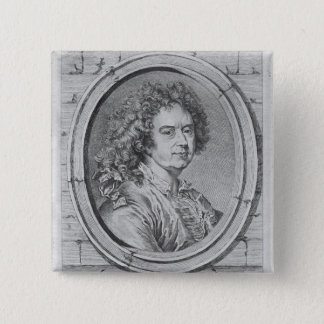 Portrait of Hyacinthe Rigaud, 1752-65 15 Cm Square Badge