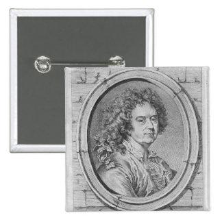 Portrait of Hyacinthe Rigaud, 1752-65 15 Cm Square Badge