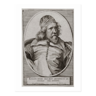 Portrait of Inigo Jones (1573-1652) engraved by We Postcard