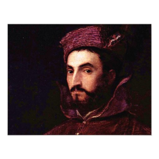 Portrait Of Ippolito De 'Medici. By Tizian Custom Announcements