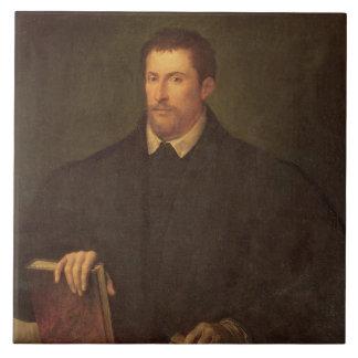 Portrait of Ippolito Riminaldi Large Square Tile