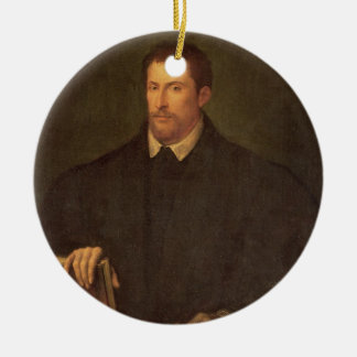 Portrait of Ippolito Riminaldi Round Ceramic Decoration