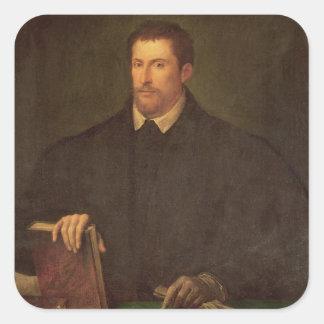 Portrait of Ippolito Riminaldi Square Sticker