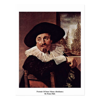 Portrait Of Isaac Massa Abrahamsz By Frans Hals Postcard