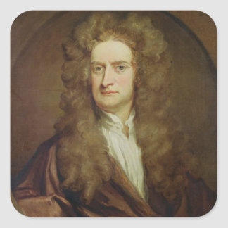 Portrait of Isaac Newton  1702 Square Sticker