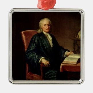 Portrait of Isaac Newton , c.1726 Christmas Ornament