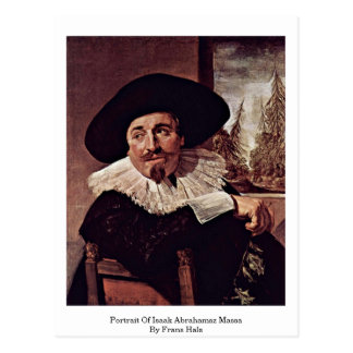 Portrait Of Isaak Abrahamsz Massa By Frans Hals Postcard