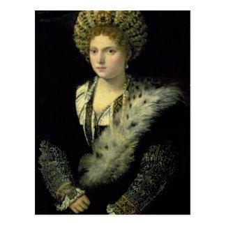 Portrait of Isabella d'Este Postcard