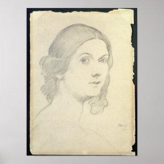Portrait of Isadora Duncan , 1908 Poster