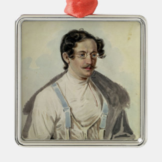 Portrait of Ivan Annenkov  in Peter Prison, 1836 Christmas Ornament