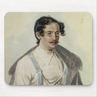 Portrait of Ivan Annenkov  in Peter Prison, 1836 Mouse Mat