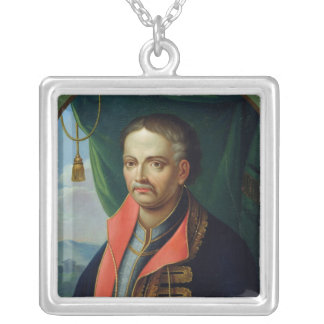 Portrait of Ivan Mazepa Silver Plated Necklace
