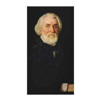 Portrait of Ivan S. Turgenev , 1879 Canvas Print