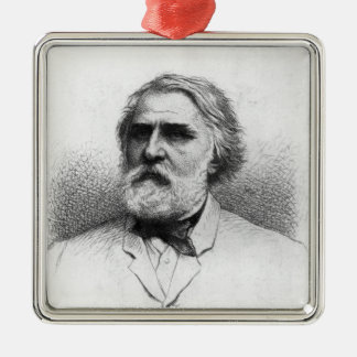 Portrait of Ivan Turgenev Christmas Ornament