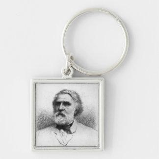 Portrait of Ivan Turgenev Key Ring