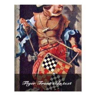 Portrait Of Jacob Van Montfort Florisz By Leyden L 21.5 Cm X 28 Cm Flyer