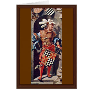 Portrait Of Jacob Van Montfort Florisz By Leyden L Greeting Card