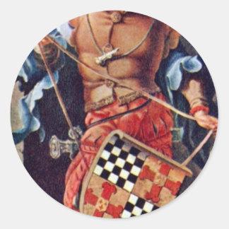 Portrait Of Jacob Van Montfort Florisz By Leyden L Round Sticker