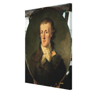 Portrait of Jacques Pierre Brissot Canvas Print