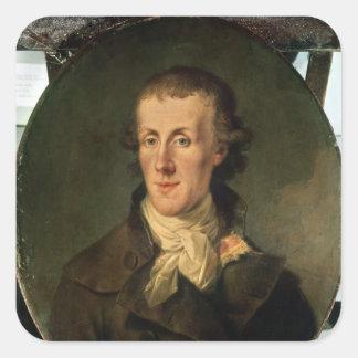 Portrait of Jacques Pierre Brissot Square Sticker