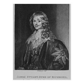 Portrait of James, 1st Duke of Richmond, Postcard