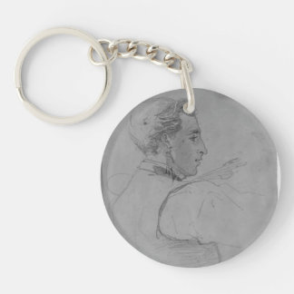 Portrait of James Carroll Beckwith by John Sargent Acrylic Key Chains