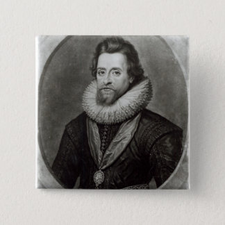 Portrait of James I  after a miniature by 15 Cm Square Badge