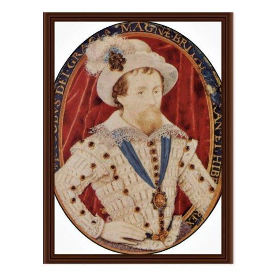Portrait Of James I, King Of England Oval By Hilli Postcard
