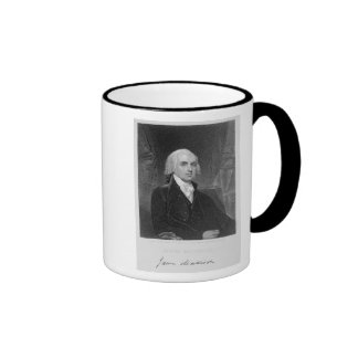 Portrait of James Madison, engraved by William A. Coffee Mugs