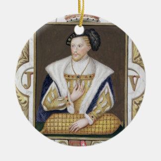 Portrait of James V (1512-42) King of Scotland fro Christmas Ornament