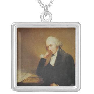 Portrait of James Watt  1792 Silver Plated Necklace