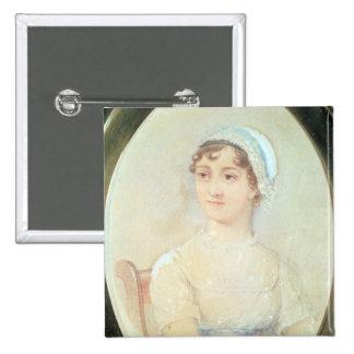 Portrait of Jane Austen 15 Cm Square Badge