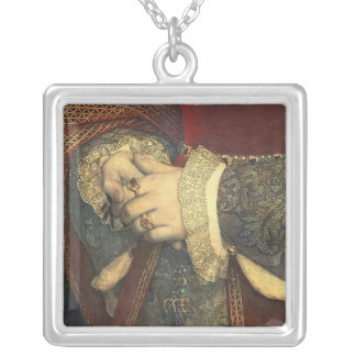 Portrait of Jane Seymour, 1536 Silver Plated Necklace