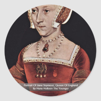 Portrait Of Jane Seymour Queen Of England Round Stickers