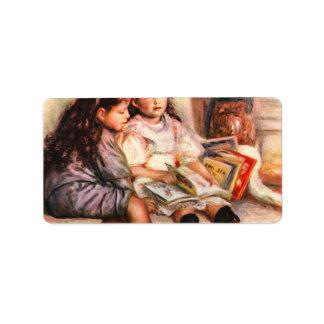 Portrait of Jean and Genevieve Caillebotte -Renoir Address Label